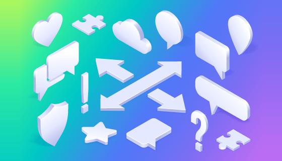 各种各样的立体符号矢量素材(EPS)