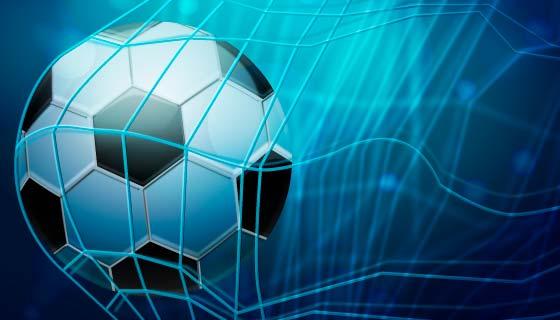 逼真的足球进网矢量素材(AI/EPS)