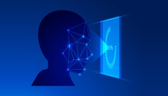人脸识别示意图矢量素材(AI/EPS)