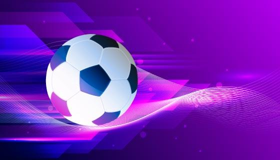 紫色的抽象足球背景矢量素材(AI/EPS)