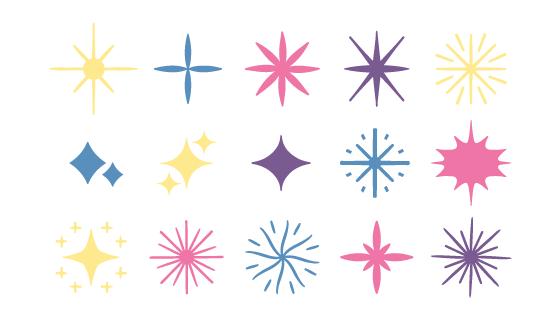 15颗不同的星星矢量素材(AI/EPS)