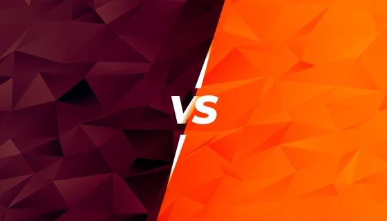 双方对抗VS荧幕背景矢量素材(EPS)