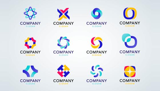12个多彩创意logo矢量素材(EPS/PNG)