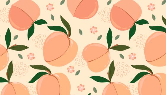 丰满的桃子图案背景矢量素材(AI/EPS)