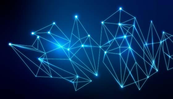 抽象的蓝色网络背景矢量素材(EPS)