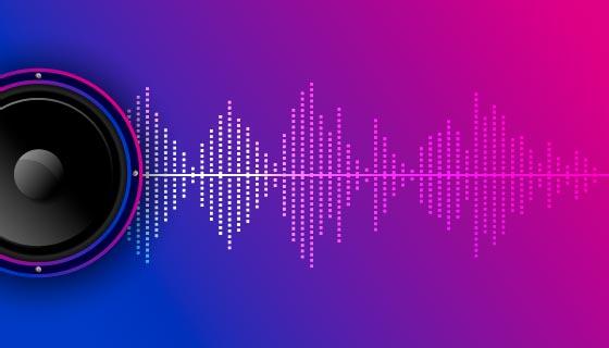 均衡器和音箱设计的音乐背景矢量素材(EPS)