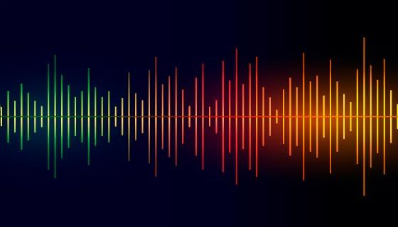 多彩的音乐均衡器背景矢量素材(EPS)
