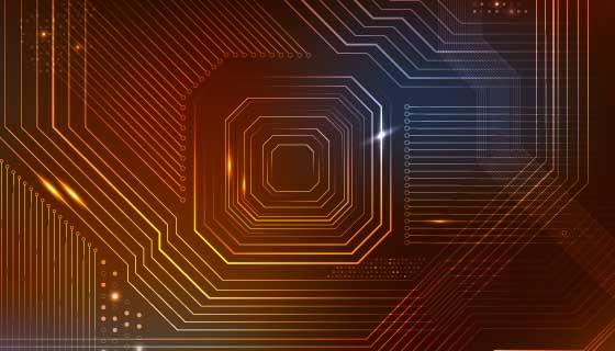 芯片纹理背景矢量素材(EPS)