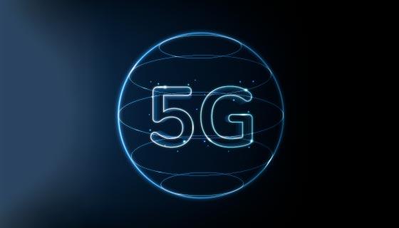 5G网络技术背景矢量素材(EPS)
