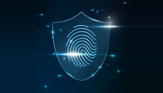 指纹识别与网络安全矢量素材(EPS)