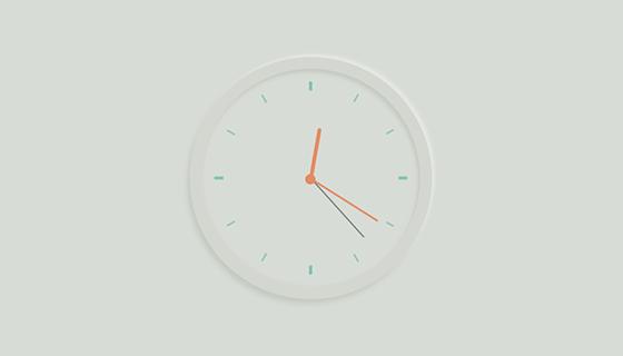 优雅漂亮的圆形时钟