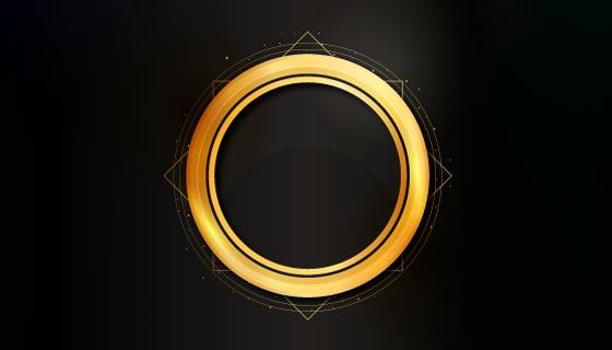 金色渐变圆环矢量素材(AI/EPS)