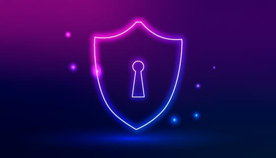 紫色的有锁盾牌矢量素材(EPS)