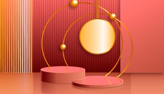富有创意的金色领奖台矢量素材(AI/EPS)