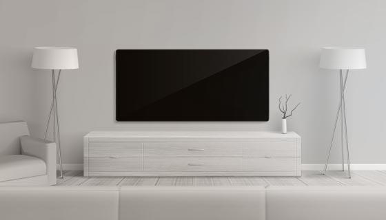 逼真的客厅电视墙设计矢量素材(AI/EPS)