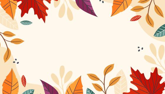 多彩落叶秋天背景矢量素材(AI/EPS)
