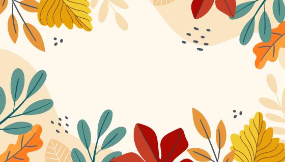 五彩缤纷的秋叶背景矢量素材(AI/EPS)