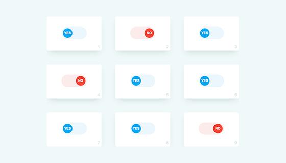 纯CSS制作Switch动画开关按钮