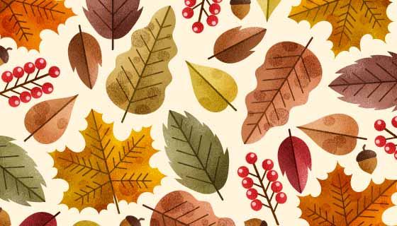 各种各样的秋叶背景矢量素材(AI/EPS)