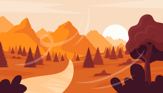 金色的秋天背景矢量素材(AI/EPS)