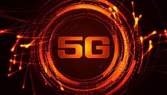 火热的5G通信技术背景矢量素材(EPS)