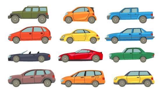 各种各样不同的汽车矢量素材(EPS/PNG)
