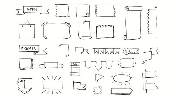 各种涂鸦元素矢量素材(EPS/PNG)