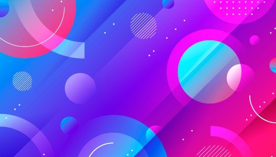 抽象圆圈圆环背景矢量素材(AI/EPS)