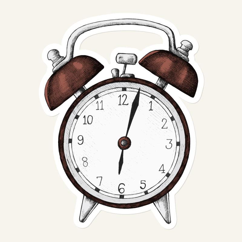 复古的闹钟矢量素材(EPS/免扣PNG)