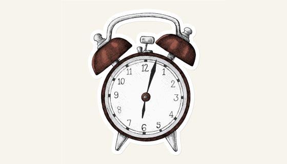 复古的闹钟矢量素材(EPS/PNG)